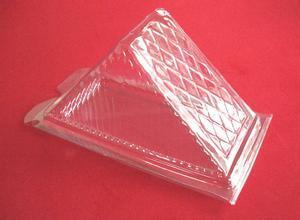 Triangle sandwich disposable container