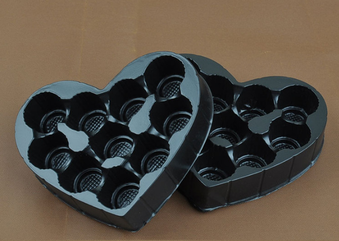 Chocolate plastic packaging tray